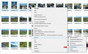 Pošiljanje pomanjšanih fotografij, 1. korak