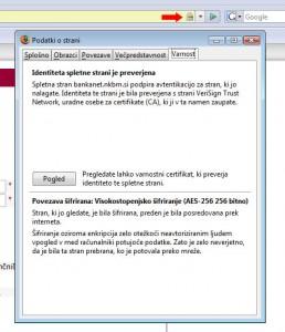 Potrdilo o pristnosti v brskalniku Mozilla Firefox