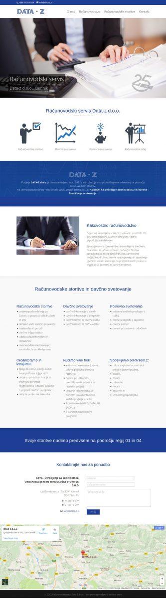 Izdelava spletne strani za računovodski servis