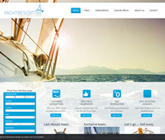 Wordpress Yacht resort